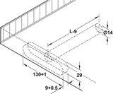 Plankdrager 175 mm, voor plankdikte vanaf 32 mm_
