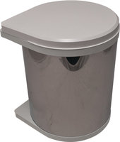 Afvalbak achter draaideur 15L Wit en Zwart, kastbreedte 400 mm