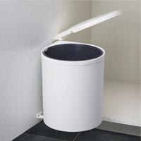 Afvalbak achter draaideur 13L Wit, kastbreedte 400 mm