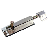 Grendelslot 50 mm, aluminium, plat