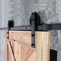 Complete set voor schuifdeursysteem, zwart