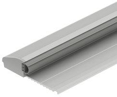 Aluminium drempel met buffer 715x64x15 mm