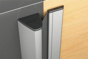 Vingerbeschermingsprofiel NR-32W, 2000 mm, voor buitendeuren