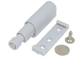 Druksnapper met magneet, 13 mm GRIJS