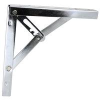 Inklapbare plankdrager, Vernikkeld 400x400 mm