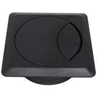 Kabeldoorvoer vierkant, zwart
