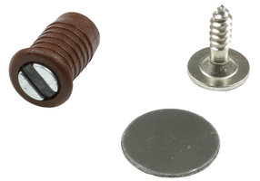 Magneetsnapper Rond Bruin 9mm
