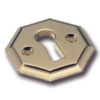 Rozet voor sleutel, metaal, glans goud, 30 x 30 mm