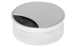 Kabeldoorvoer 90x90 mm, aluminiumkleurig