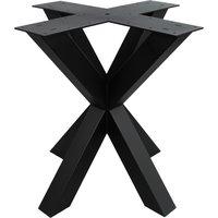 Industriële zwarte vierkante matrix tafelpoot