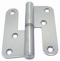 Tweedelige deurscharnier (links), 100 x 80 mm