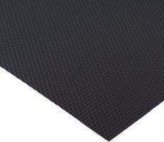 Zwarte antislipmat, 474 x 2000 mm