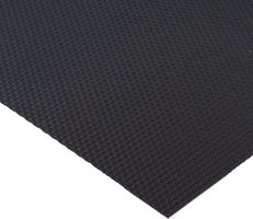 Zwarte antislipmat, 524 x 2000 mm