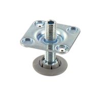 Metalen stelpoot met bevestigingsplaat 37,5 mm