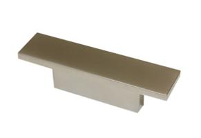 Meubelgreep recht aluminiumkleurig mat