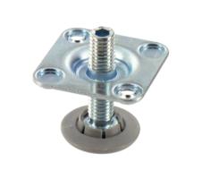 Metalen stelpoot met bevestigingsplaat 47,5 mm
