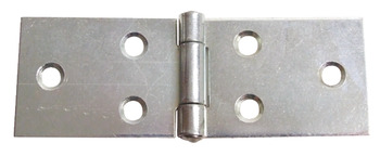 Scharnier, staal, gerold, met geklonken stift, 23x50 mm