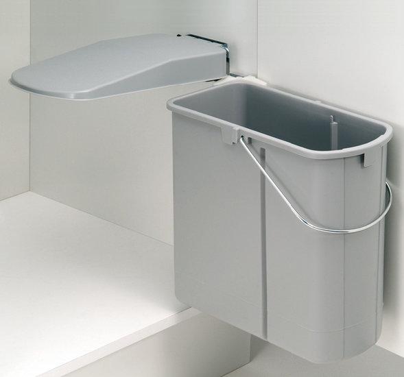 Afvalbak achter draaideur 19L grijs, kastbreedte 450 mm