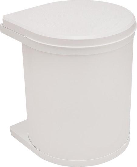 Afvalbak achter draaideur 15L Wit, kastbreedte 400 mm