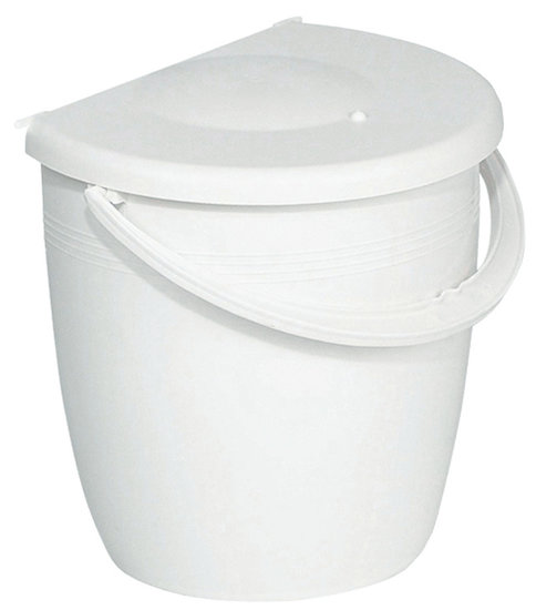 Afvalbak achter draaideur 11L Wit, kastbreedte 400 mm