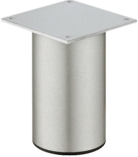 Meubelpoot met plaat, aluminium, 80 mm