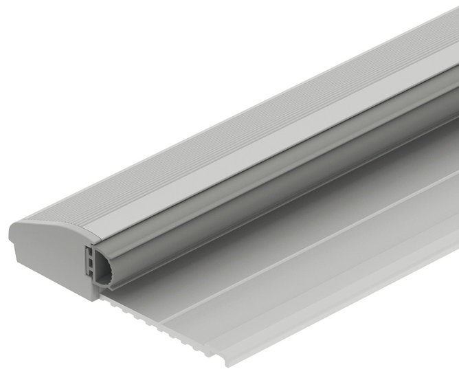 Aluminium drempel met buffer 965x64x15 mm