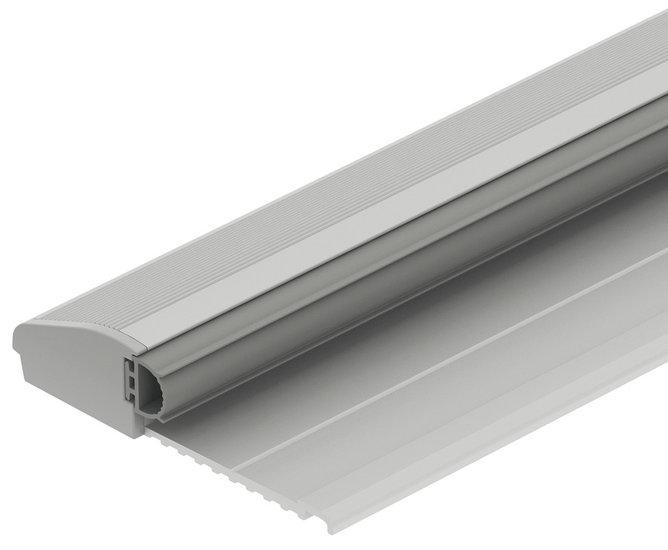 Aluminium drempel met buffer 1215x64x15 mm