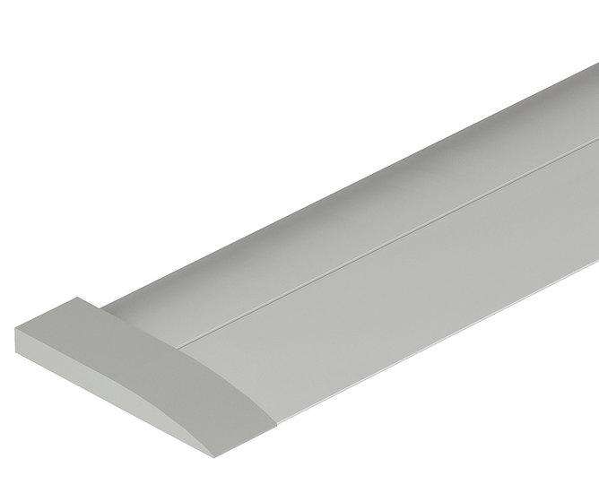 Aluminium drempel, 1215x40x4 mm