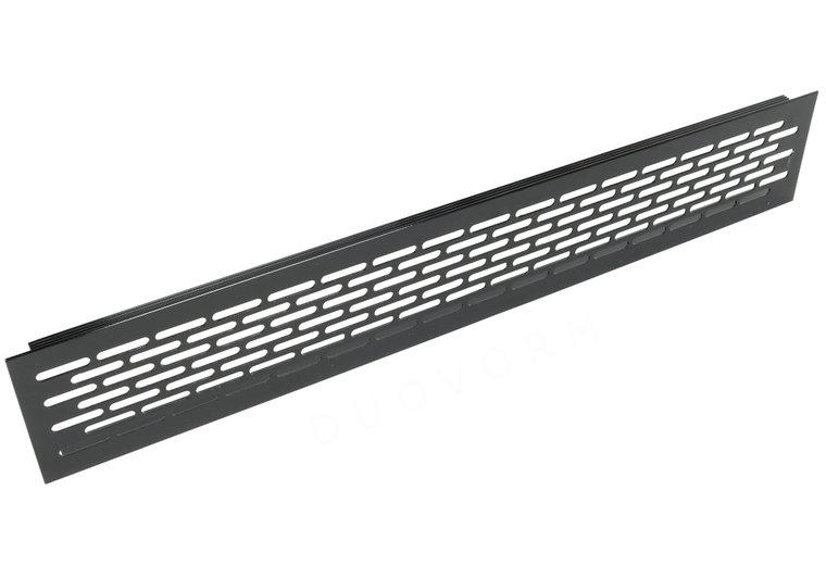 Aluminium ventilatierooster 480x79,8 mm ZWART