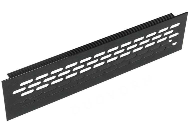 Aluminium ventilatierooster 245x59,8 mm ZWART