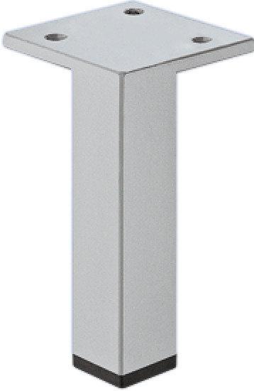 Meubelpoot aluminiumkleurig, met plaat 200 mm