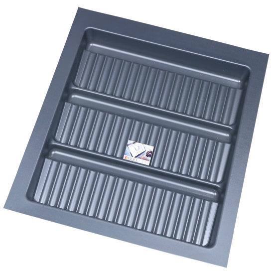 Bestekbak voor kruidenpotjes Antraciet, 400-440 mm