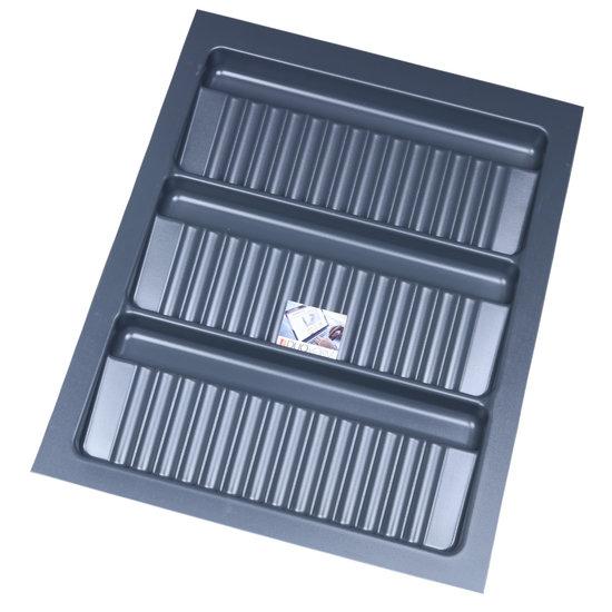 Bestekbak voor kruidenpotjes Antraciet, 350-390 mm