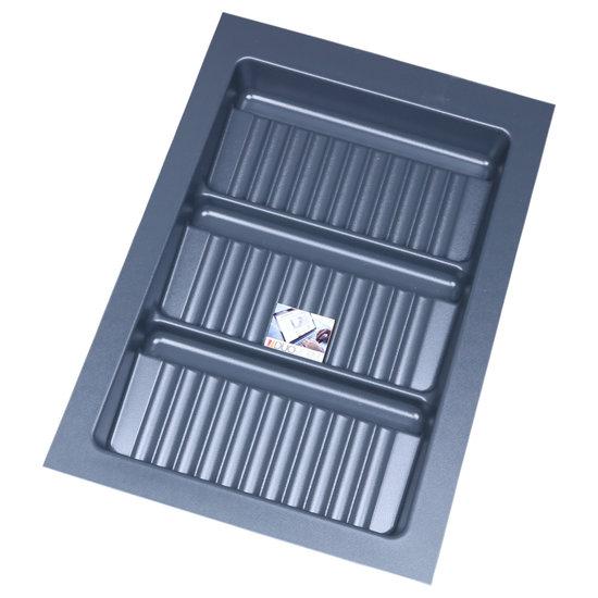 Bestekbak voor kruidenpotjes Antraciet, 300-340 mm