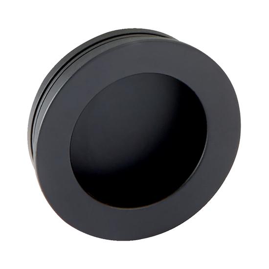 Komgreep rond 60 mm, mat zwart