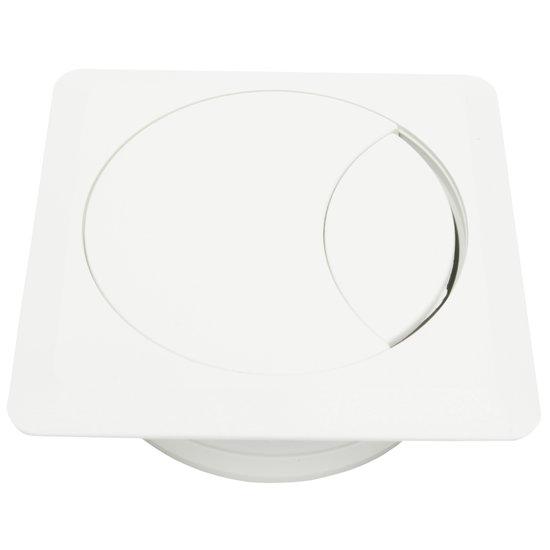 Kabeldoorvoer vierkant, wit
