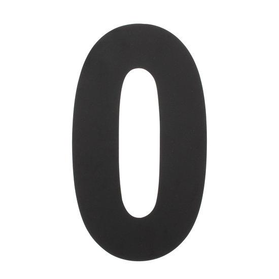 Zwart huisnummer 0, hoogte 30 cm