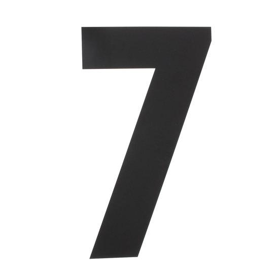 Zwart huisnummer 7, hoogte 50 cm