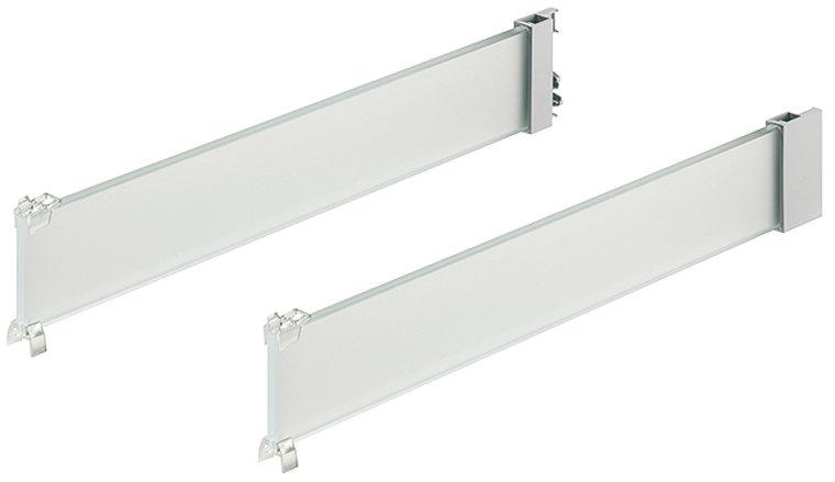 Blum Tandembox type D, glazen zijwand gesatineerd