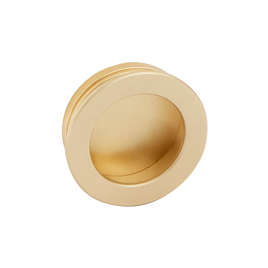 Ronde komgreep goudkleurig 40 mm
