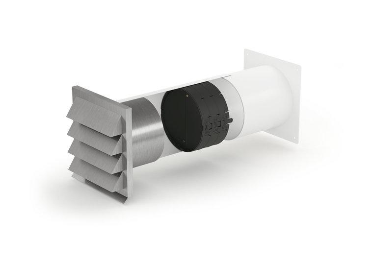 Luchtafvoersysteem met isolatiesysteem, ronde aansluiting