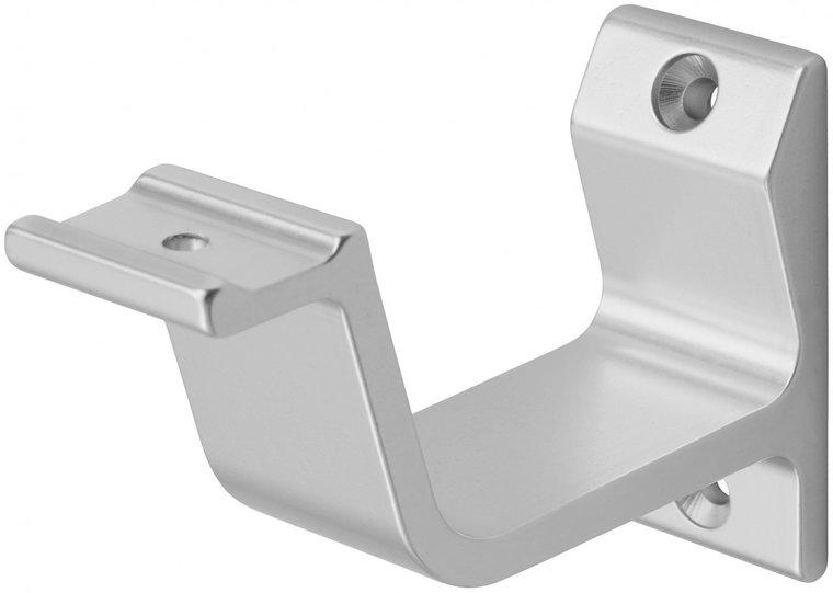 Leuninghouder aluminium vlak profiel, zilver