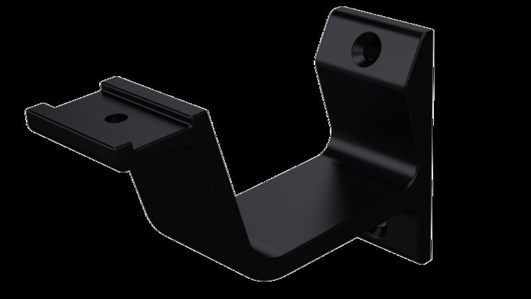 Leuninghouder vlak profiel, mat zwart 76 mm