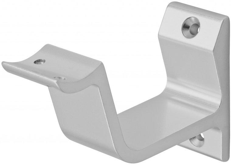 Leuninghouder aluminium hol profiel, zilver 76 mm