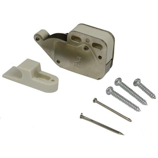 Mini-latch vernikkeld / wit