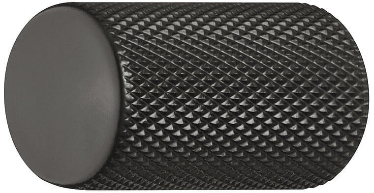 Meubelknop zwart mat 17 mm
