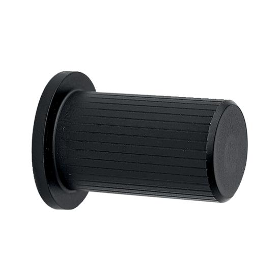 Meubelknop RVS, diameter 17 mm, zwart