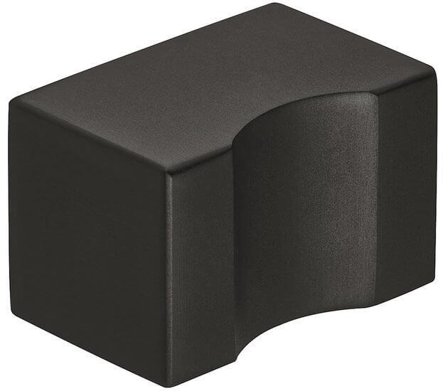 Meubelknop RVS Zwart mat 20x30 mm