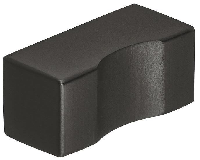 Meubelknop RVS Zwart Mat 12x25 mm