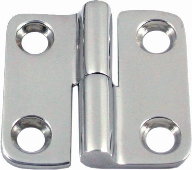 Tweedelige deurscharnier (links), 37 x 37 mm